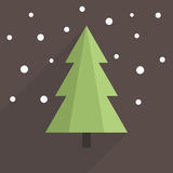 Flat Christmas tree Royalty Free Stock Images