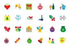 Flat Christmas Vector Icons 4 royalty free illustration