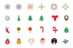 Flat Christmas Vector Icons 1 vector illustration
