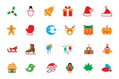 Flat Christmas Vector Icons 2 Royalty Free Stock Photo