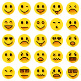 Flat circle smiley icons