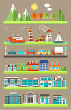 Flat city infographics Stock Photography