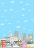 Flat cityscape background Royalty Free Stock Images