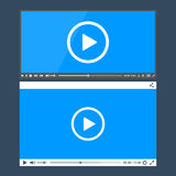 Flat clean video player for web Royalty Free Stock Images
