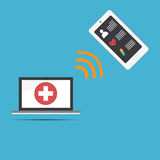 Flat clinical record.for icon, web design Royalty Free Stock Images