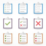 Flat Clipboard Icons Royalty Free Stock Photo