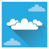 Flat Cloud. This is kind of toner, suitable for info-graphic stock and promotional stockn Royalty Free Stock Photo
