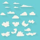 Flat clouds set Stock Photos