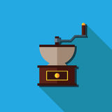 Flat coffee grinder, Vector isolated Royalty Free Stock Photography