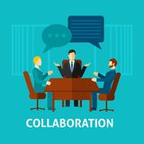 Flat Collaboration Icon Royalty Free Stock Images