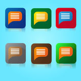 Flat Color Chat Icon Stock Photos