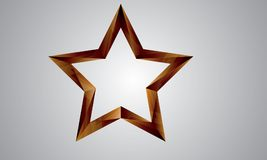 Flat color 3d star logo Stock Image