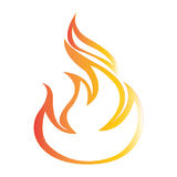 Flat color fire icon Royalty Free Stock Photo
