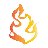 Flat color fire icon Royalty Free Stock Image