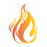 Flat color fire icon Royalty Free Stock Photography