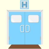 Flat color icon for hospital entrance Stock Photo