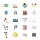 Flat Color Icons Design for Business Management  Stock Photo