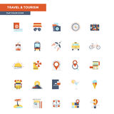 Flat Color Icons- Education and Learning Royalty Free Stock Photography