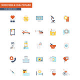 Flat Color Icons- Medical and Healthcare Stock Image