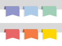Flat color labels Stock Image