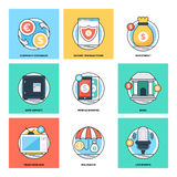 Flat Color Line Design Concepts Vector Icons 17 Royalty Free Stock Photos