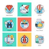 Flat Color Line Design Concepts Vector Icons 35 Stock Photo