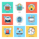 Flat Color Line Design Concepts Vector Icons 34 Royalty Free Stock Photo