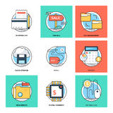 Flat Color Line Design Concepts Vector Icons 21 Stock Photos