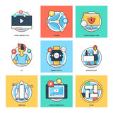 Flat Color Line Design Concepts Vector Icons 33 Stock Photos