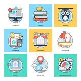 Flat Color Line Design Concepts Vector Icons 26 vector illustration