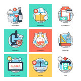 Flat Color Line Design Concepts Vector Icons 31 Royalty Free Stock Image