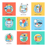 Flat Color Line Design Concepts Vector Icons 1 Royalty Free Stock Image