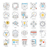 Flat Color Line Icons 18 Stock Photography