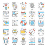 Flat Color Line Icons 14 Stock Images
