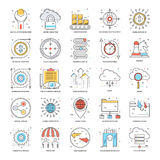Flat Color Line Icons 17 Stock Image