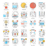 Flat Color Line Icons 15. A collection of Flat Color Line Icons that you can easily integrate in your design and the cool thing is, that there are so many of Royalty Free Stock Image