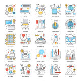 Flat Color Line Icons 11. A collection of Flat Color Line Icons that you can easily integrate in your design and the cool thing is, that there are so many of Royalty Free Stock Image