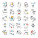 Flat Color Line Icons 3 Stock Photography
