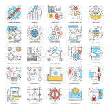 Flat Color Line Icons 8 Royalty Free Stock Image