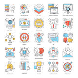 Flat Color Line Icons 10. A collection of Flat Color Line Icons that you can easily integrate in your design and the cool thing is, that there are so many of Royalty Free Stock Image