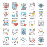 Flat Color Line Icons 9. A collection of Flat Color Line Icons that you can easily integrate in your design and the cool thing is, that there are so many of them Stock Photography