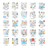 Flat Color Line Icons 16. A collection of Flat Color Line Icons that you can easily integrate in your design and the cool thing is, that there are so many of Stock Image