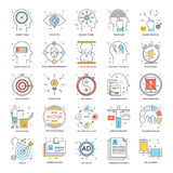 Flat Color Line Icons 21. A collection of Flat Color Line Icons that you can easily integrate in your design and the cool thing is, that there are so many of Royalty Free Stock Photography