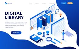 Free Flat Color Modern Isometric Concept Illustration - Digital Library Royalty Free Stock Image - 139282876