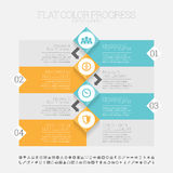 Flat Color Progress Infographic Stock Images