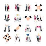 Flat Color Teamwork Icons Set Stock Photos