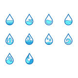 Flat color water icon set royalty free stock photo
