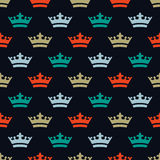 Flat colored crowns. Seamless pattern for new year. royalty free stock photography