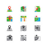 Flat colored location icon Royalty Free Stock Photo