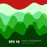 Flat colored wave, design background Royalty Free Stock Photography